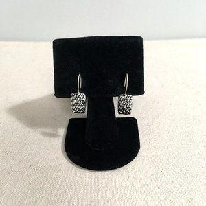 Jewelry - Vintage 90s Silver Tone Basket Weave Earrings